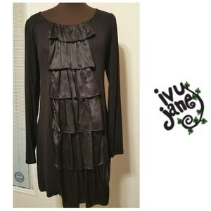 Gorgeous Ivy Jane Black Shimmer Dress with Silk